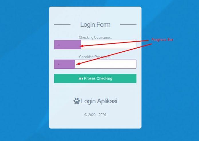 progress bar form login codeigniter