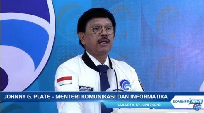 Menteri Komunikasi dan Informatika Johnny G. Plate
