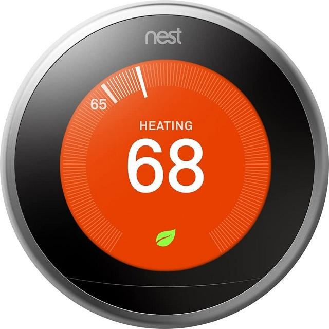 Google Nest Thermostat - Programmable Smart Thermostat for Home - 3rd Generation Nest Thermostat - Works with Alexa - [Stainless Steel]