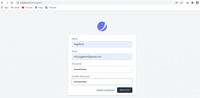 Laravel 8 Form Register
