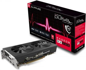Sapphire Radeon 11265-05-20G Pulse RX 580 8GB GDDR5 Dual HDMI/ DVI-D/ Dual DP OC with Backplate (UEFI) PCI-E Graphics Card Graphic Cards