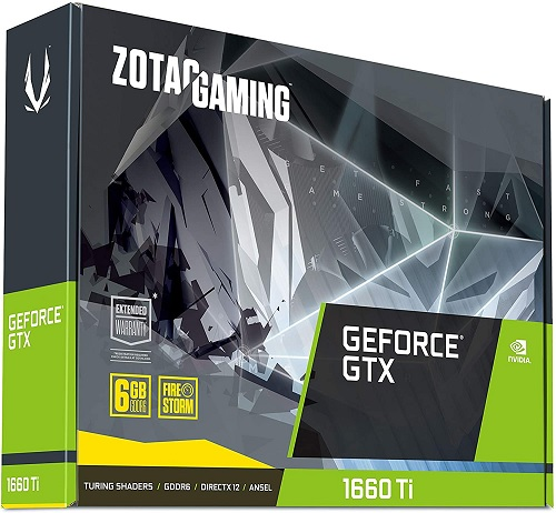 ZOTAC Gaming GeForce GTX 1660 Ti 6GB GDDR6 192-bit Gaming Graphics Card Super Compact - ZT-T16610F-10L