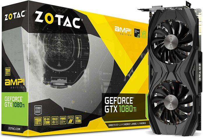 ZOTAC GeForce GTX 1080 Ti AMP Edition 11GB GDDR5X 352-bit PCIe 3.0 Gaming Graphics Card VR Ready(ZT-P10810D-10P)