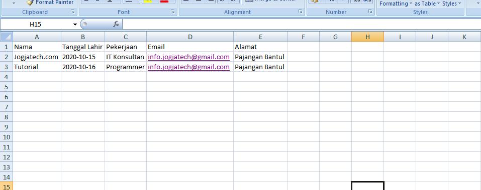 Codeigniter 4 Import Data Excel Jogjatech