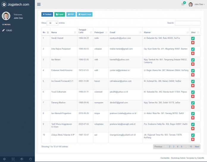 Codeigniter 4 Import File Excel Jogjatech