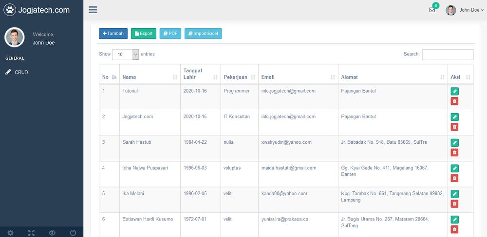 Codeigniter 4 Import File Excel Success