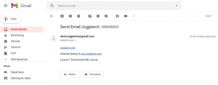 Inbox Email Berhasil Diterima