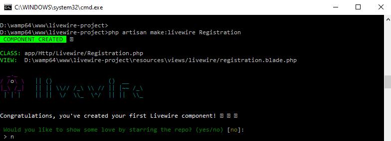 Laravel 8 Livewire CRUD Creating Components