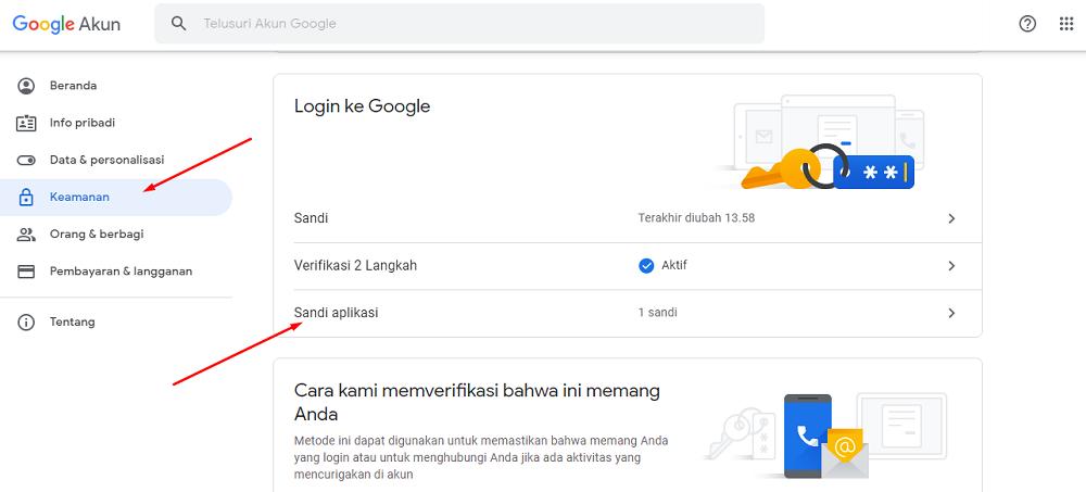 Sandi Aplikasi Pada Gmail