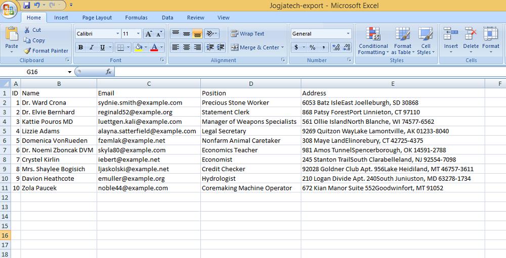Laravel PhpSpreadsheet Export Excel