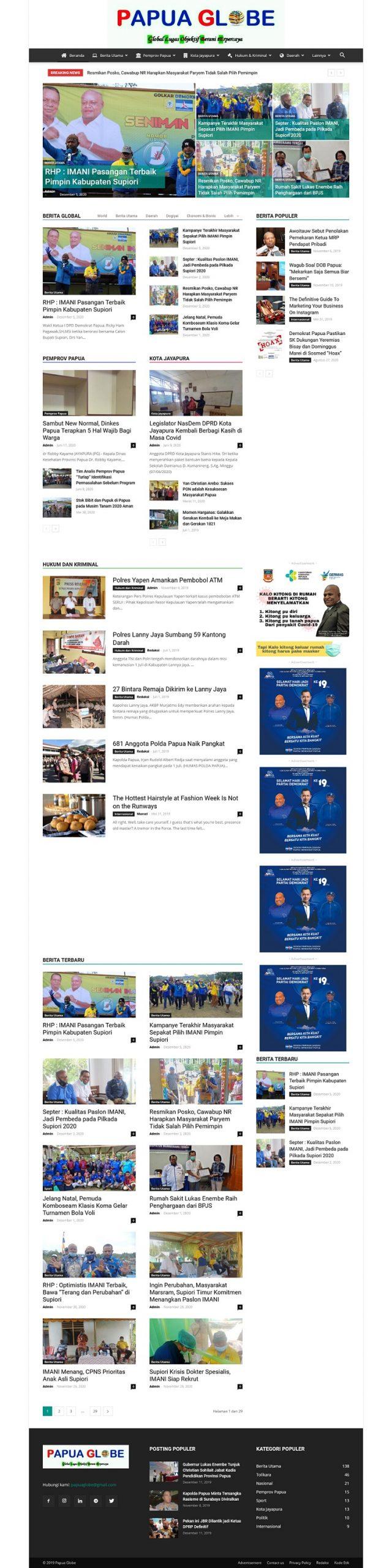 Website Portal Berita Berbasis WordPress
