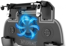 """COOBILE Gaming Grip with Portable Charger Cooling Fan,for PUBG Mobile Controller L1R1 Mobile Game Trigger Joystick for 4-6.5"""" Phone"""