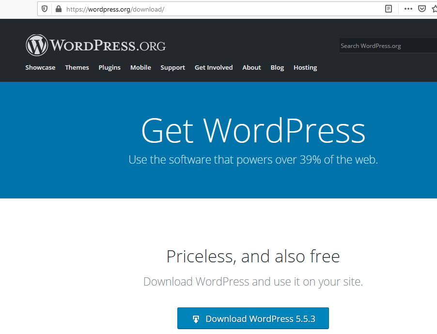 Download WordPress platform