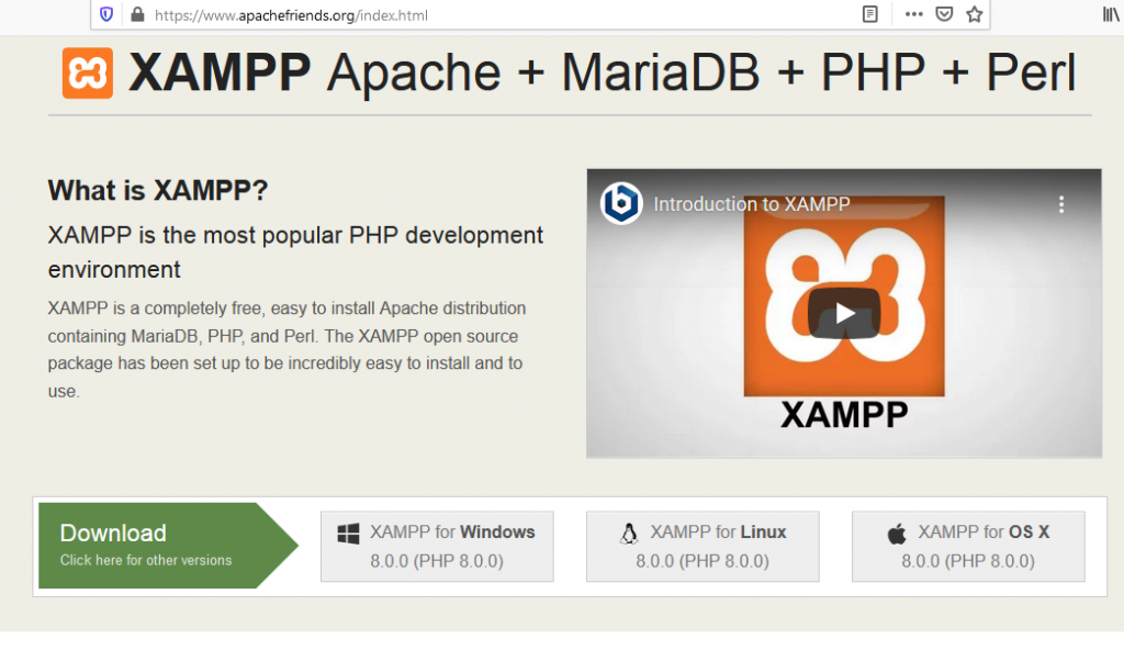 Download XAMPP apachefriends
