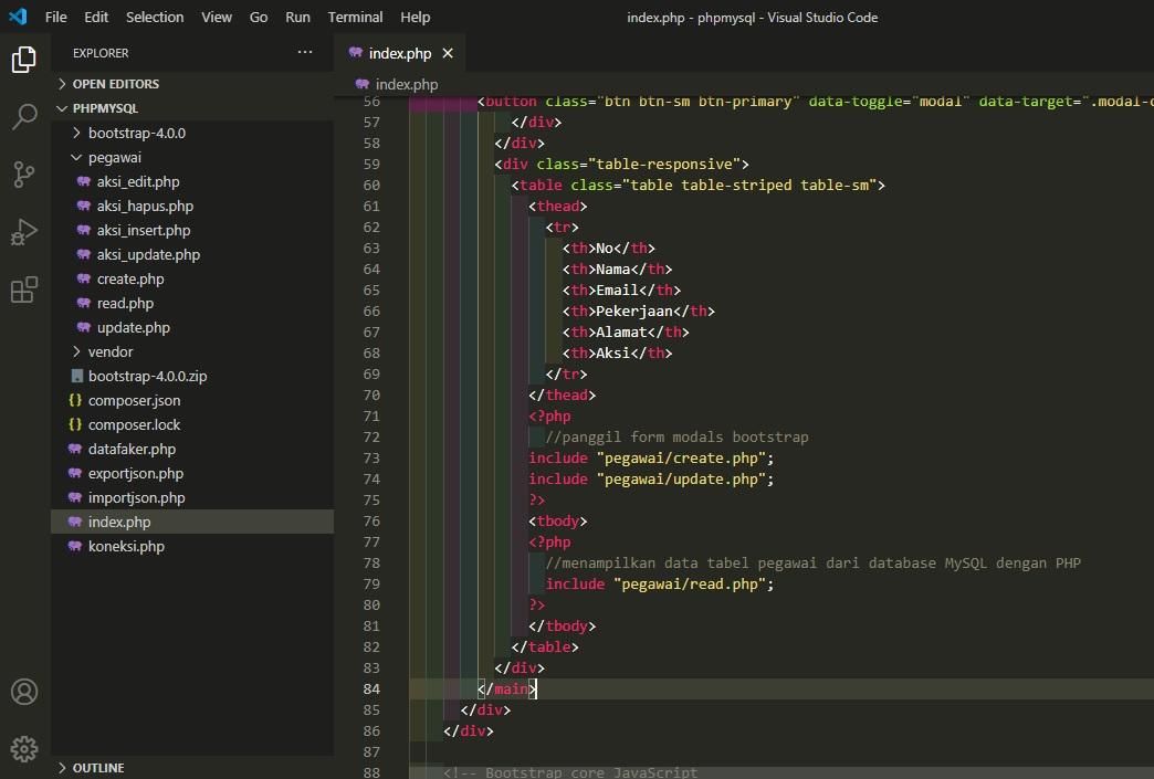 PHP MySQL CRUD Project