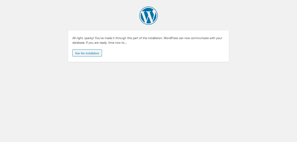 WordPress Setup Configuration File Ready To Run