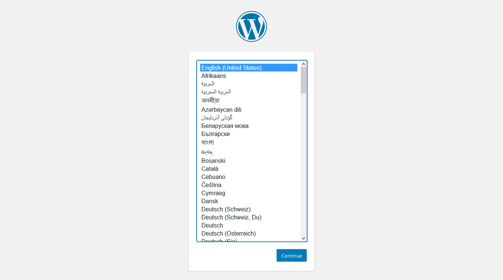WordPress Setup Configuration File localhost
