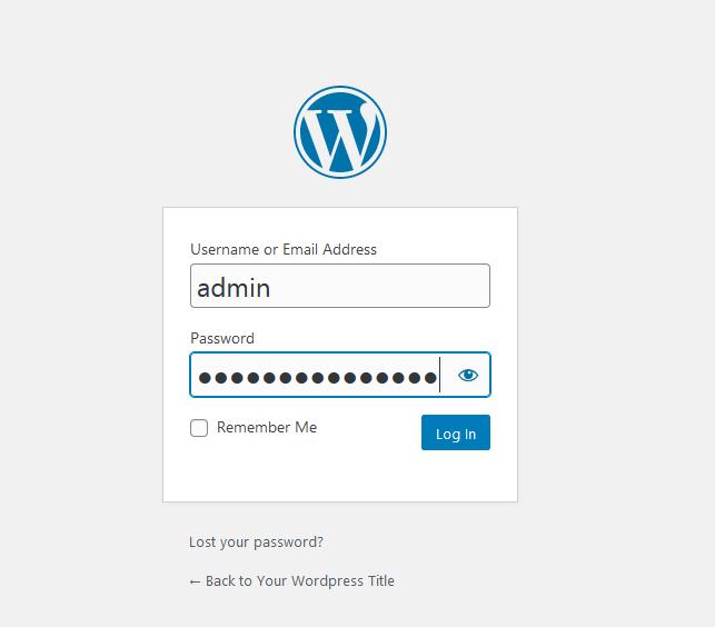Wordpress Form Login