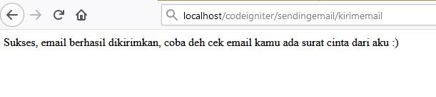Codeigniter kirim email