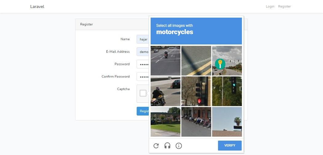 Google reCAPTCHA validation