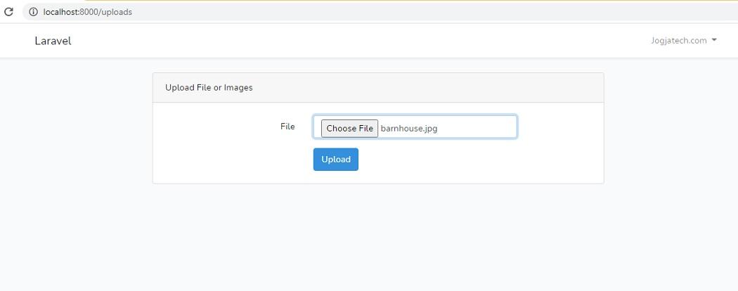 Laravel form uploads file or images