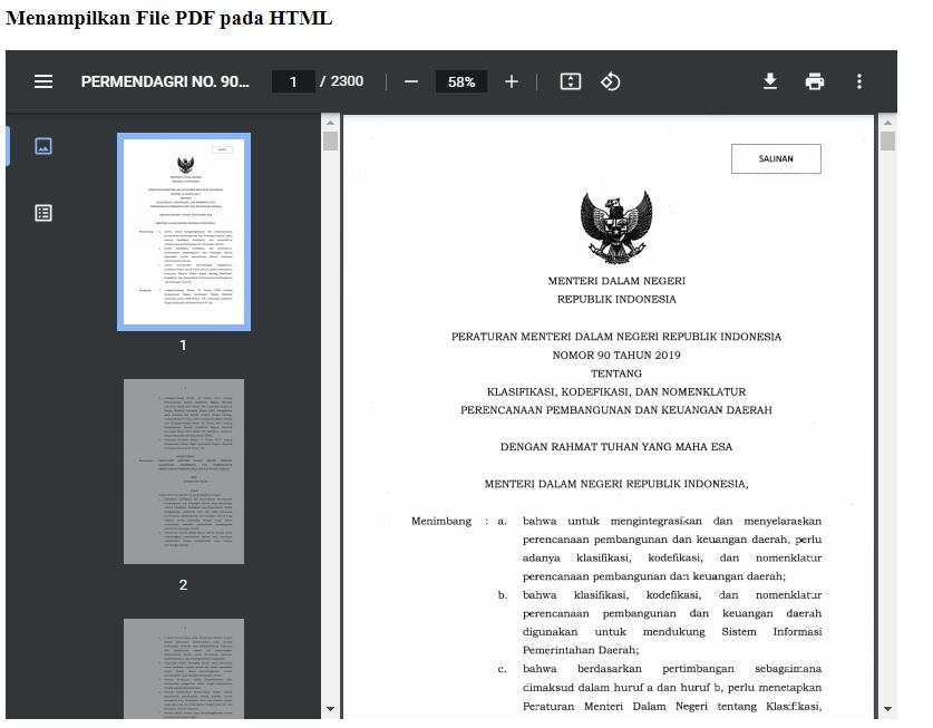 Menampilkan File PDF pada HTML