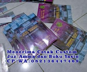 Cetak Cover Custom Juz 'Amma dan Buku Yasin