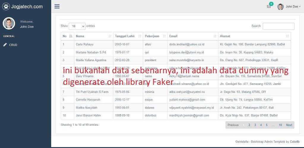 Codeigniter 4 Server Side Datatable