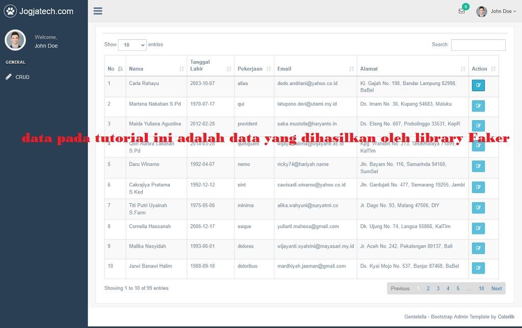 Menambahkan Kolom Tombol Action Pada Codeigniter 4 Server Side Datatables